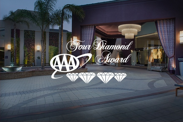 AAA Four Diamond Award Logo with Hotel Entrance in Background