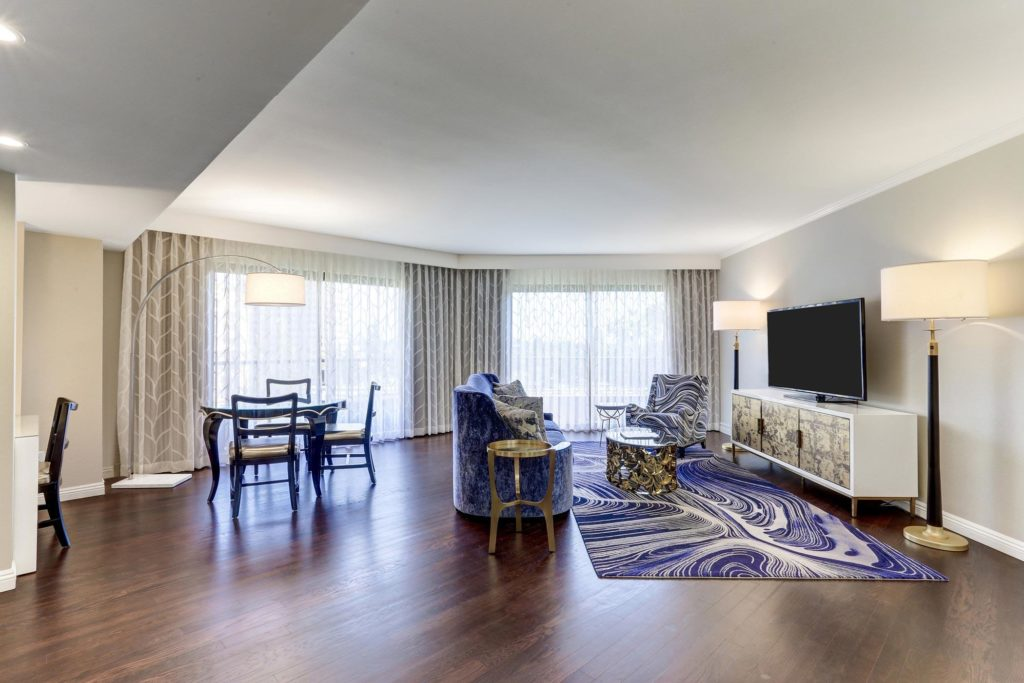 Executive Suite Living Room at Avenue of the Arts Costa Mesa