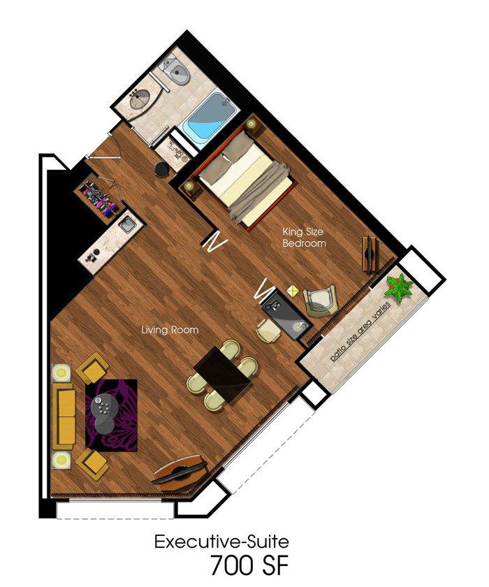 Executive Suite Floorplan at Avenue of the Arts Costa Mesa