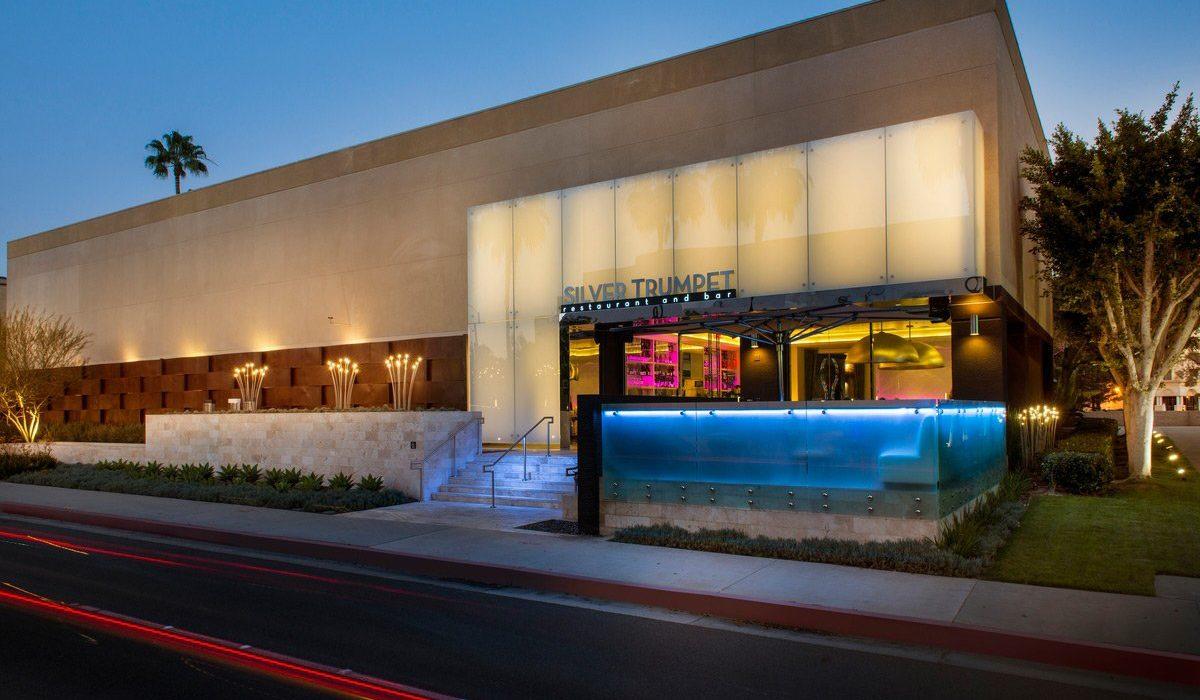 Silver Trumpet Restaurant Exterior of Avenue of The Arts Costa Mesa