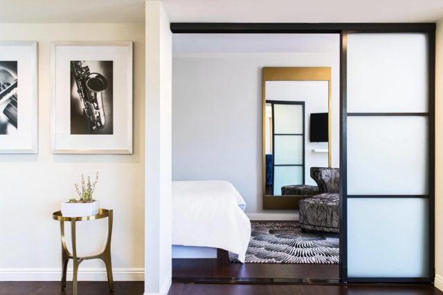 Executive Suite Bedroom Entrance at Avenue of the Arts Costa Mesa