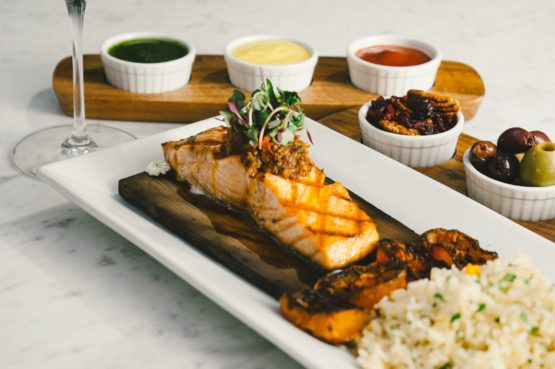 Cedar Plank Salmon of Avenue of The Arts Costa Mesa