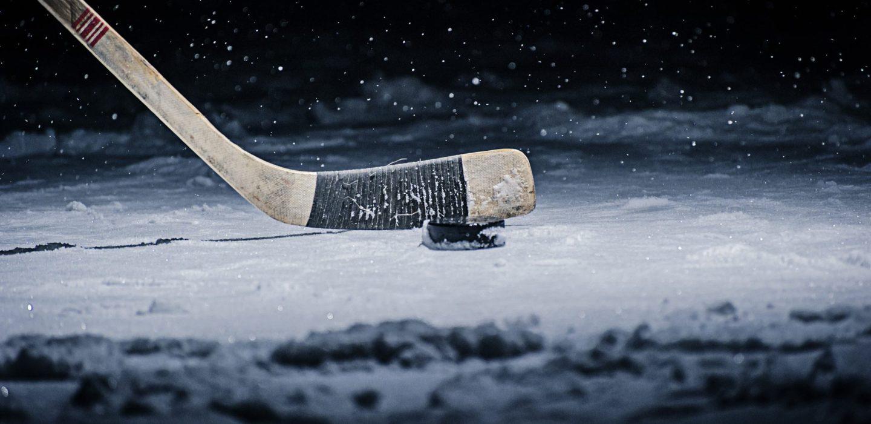 brown and black ice hockey stick