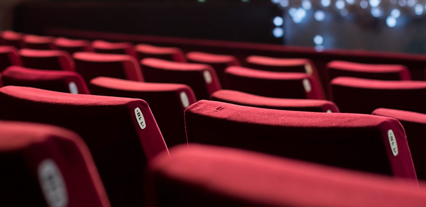 red fabric theater seats