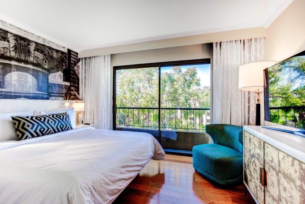 Junior Suite Bedroom at Avenue of the Arts Costa Mesa