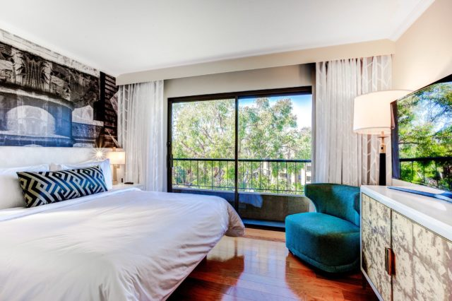 Junior Suite Bedroom at Avenue of the Arts Costa Mesa