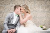 bride about to kiss groom