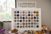 display of donuts