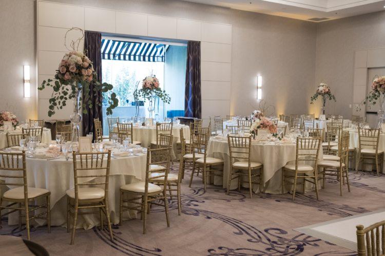 tables setup for wedding