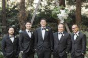 five men wearing suit jackets