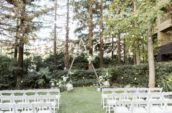 white chairs on green grass field