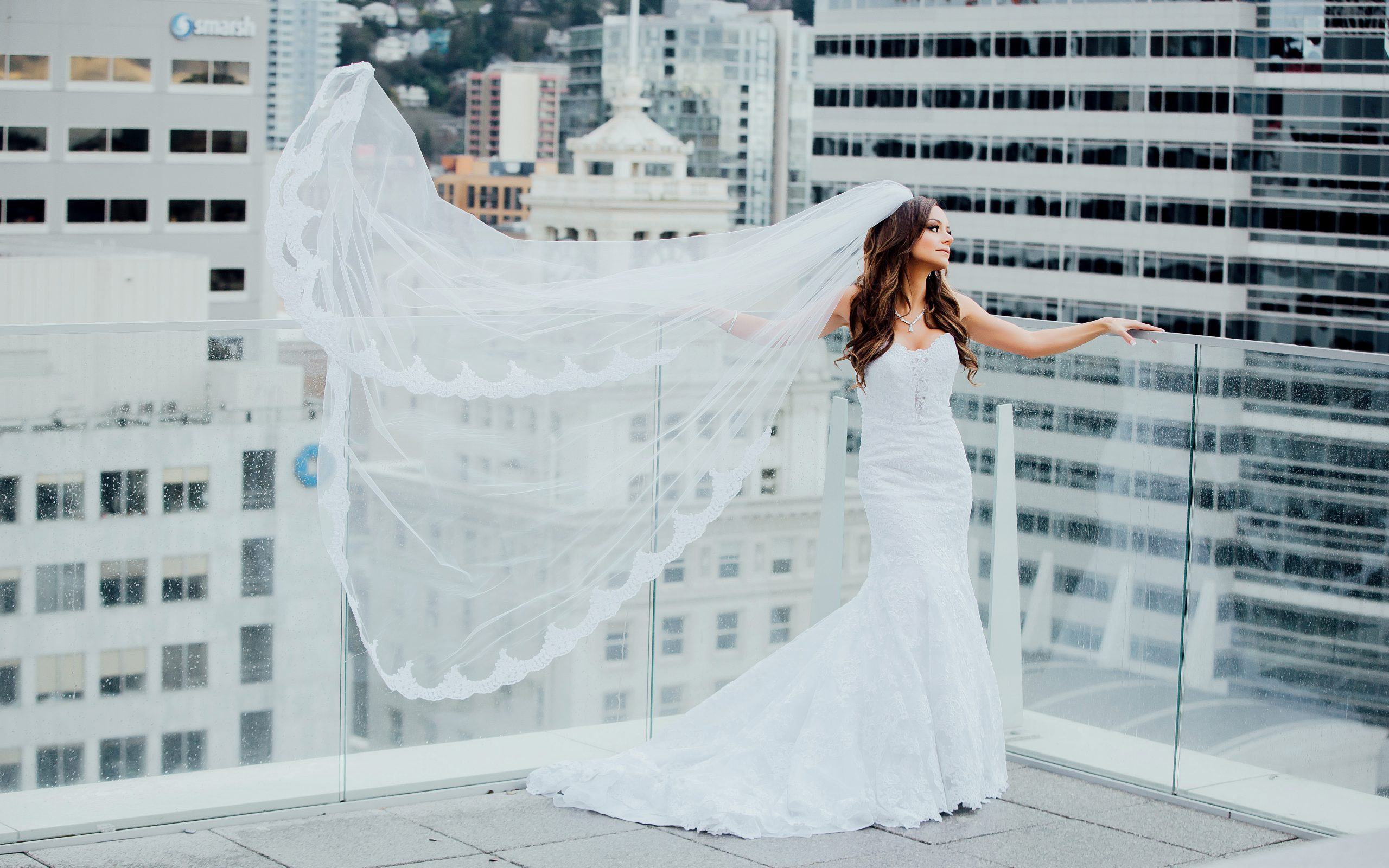 Bride on Rooftop