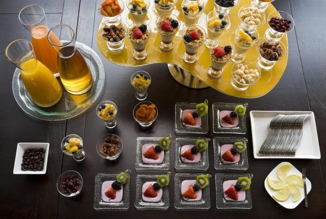 continental breakfast spread for meetings and events