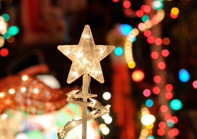 lighted star ornament for the portland christmas festival