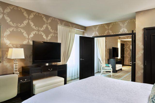 atrium king bed suite in portland