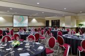 banquet style seating in a meeting space for the nines hotel