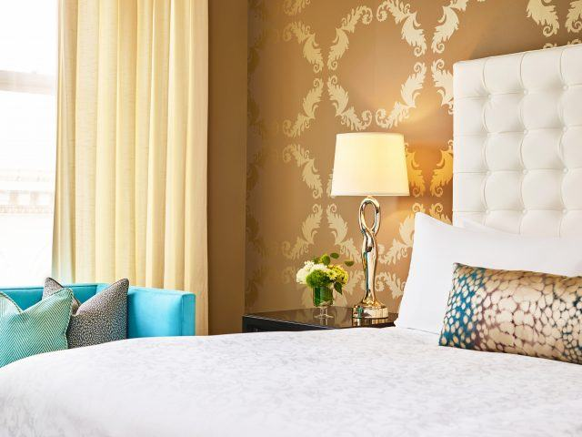 detail shot of the luxury bed rooms at the nines hotel