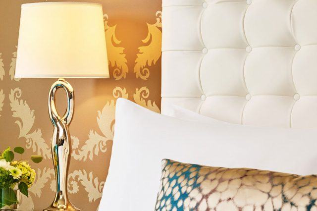 detail of the luxury bed finishes at the nines hotel