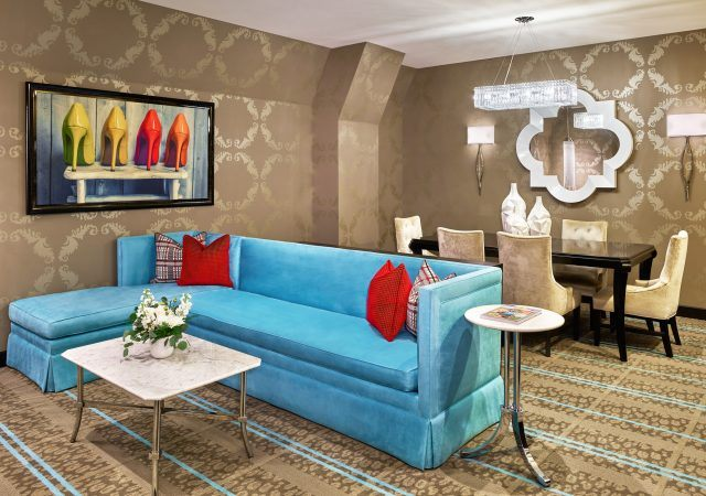 comfortable and modern decor in the nines hotel hospitality suite