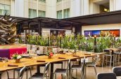 urban farmer restaurant high top seating at the nines hotel restaurant