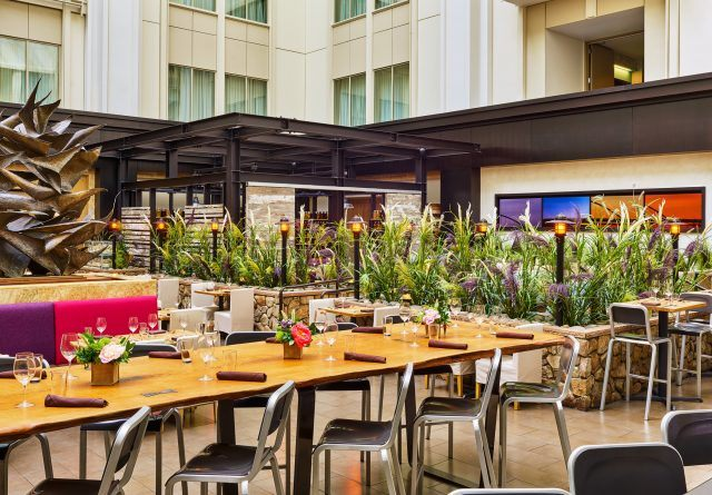 urban farmer restaurant high top seating at the nines hotel restaurant