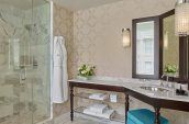 modern bathrooms with natural daylight at the nines hotel
