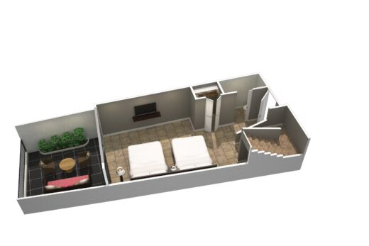 3D render of suite lower level