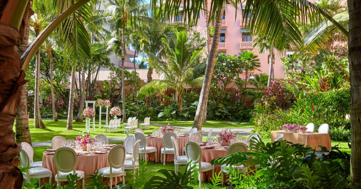 Wedding Venues Waikiki Event Space The Royal Hawaiian