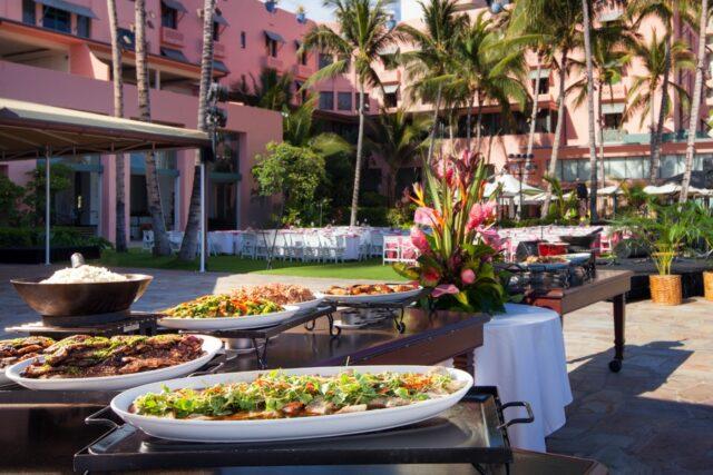 Royal-hawaiian-hotel-dining-aha-aina-dinner-food-station