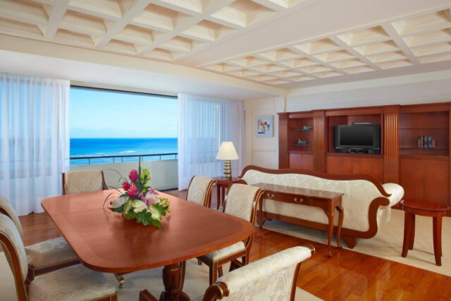 rectangular brown wooden dining set