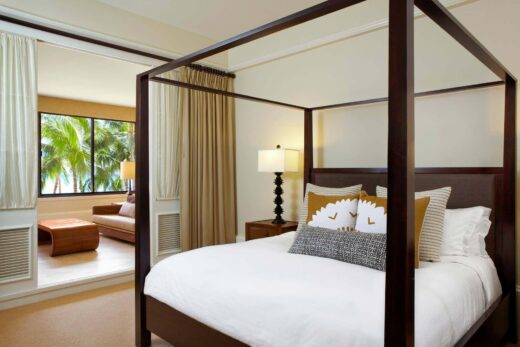 white beds in large suite