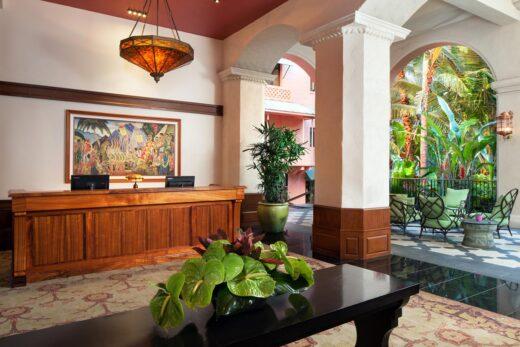 interior of a resort
