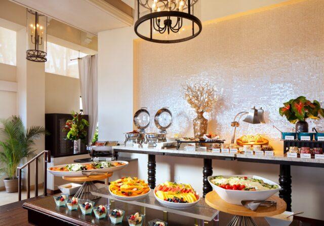 breakfast buffet setup