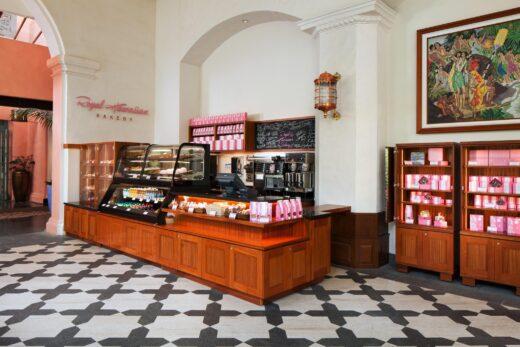 Royal Hawaiian Bakery with shelves for bakery goods