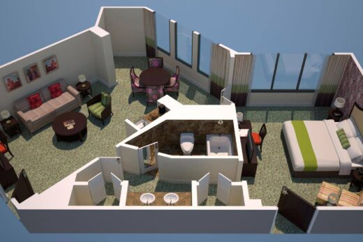 3D render of floor plan