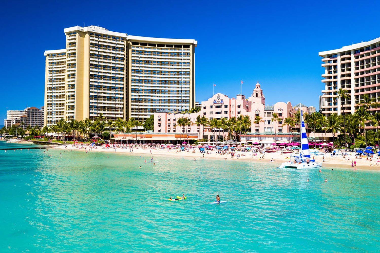 royal-hawaiian-hotel-aerial-beach-view