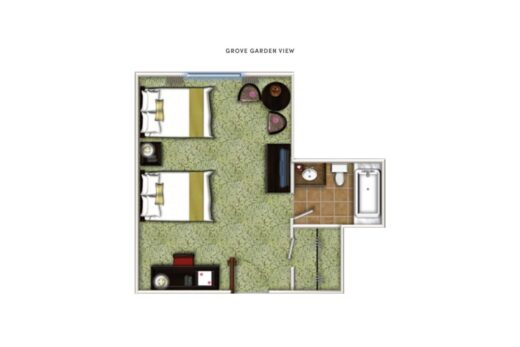 overhead render of floor plan