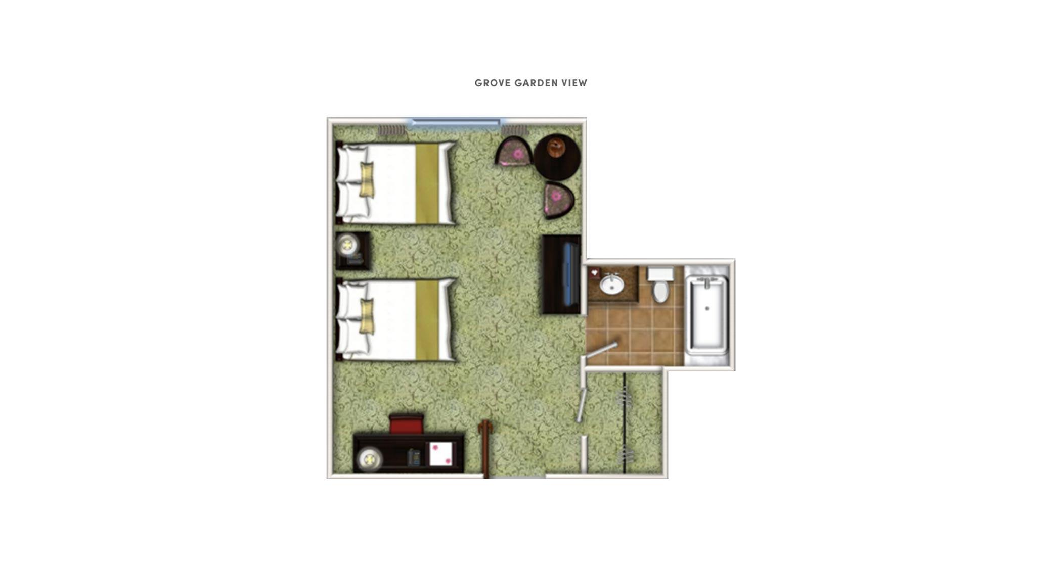 overhead render of floor plan
