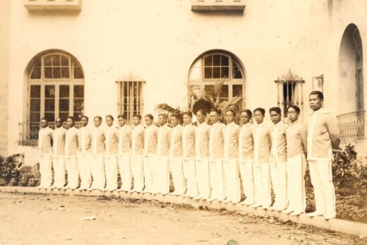Historic photo of hotel attendants