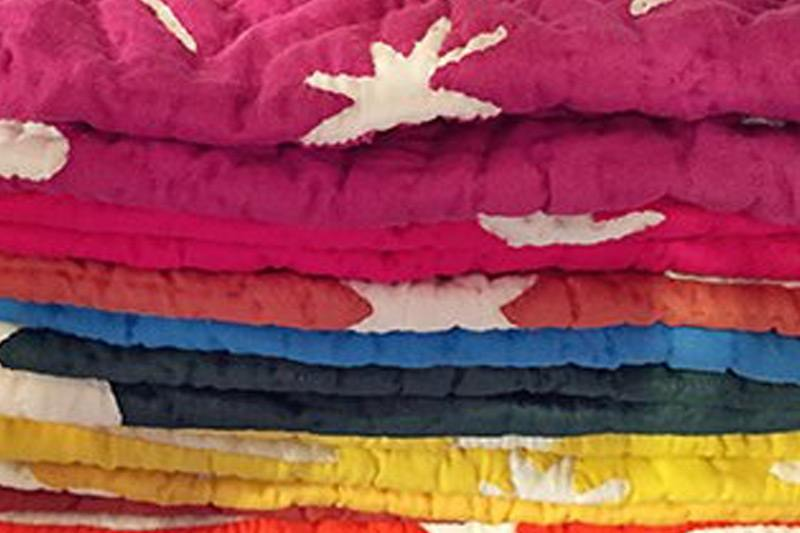 assorted-colored textile