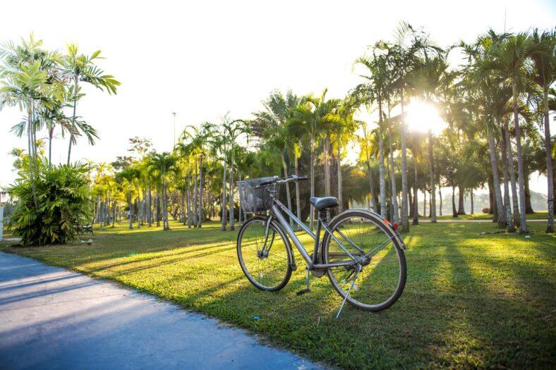 grey bike during daytime