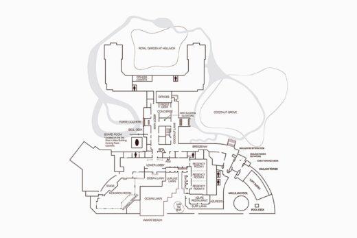 Floorplan drawing of meeting spaces