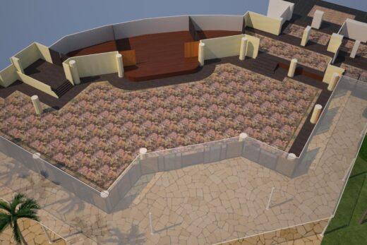 3D render of meeting space