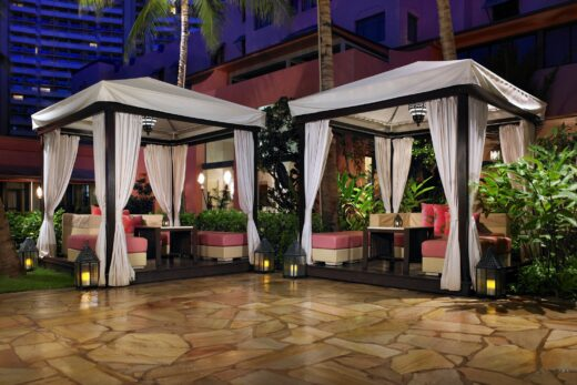 two white canopy tents