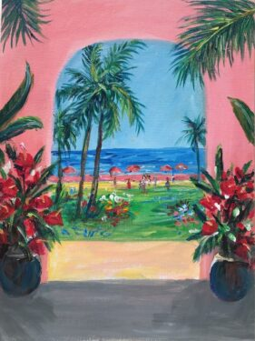 coconut trees painting