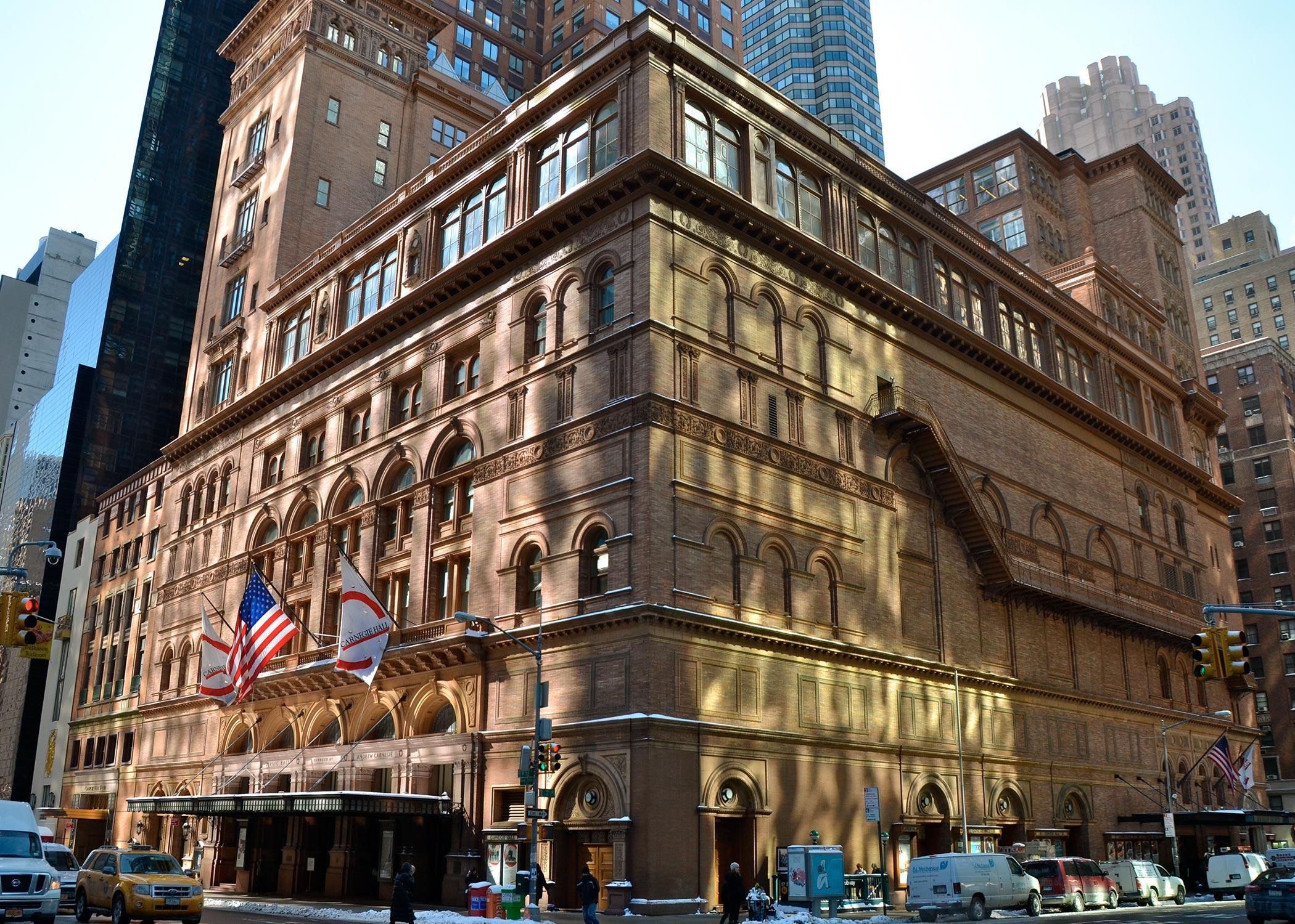 Exterior of Carnegie Hall