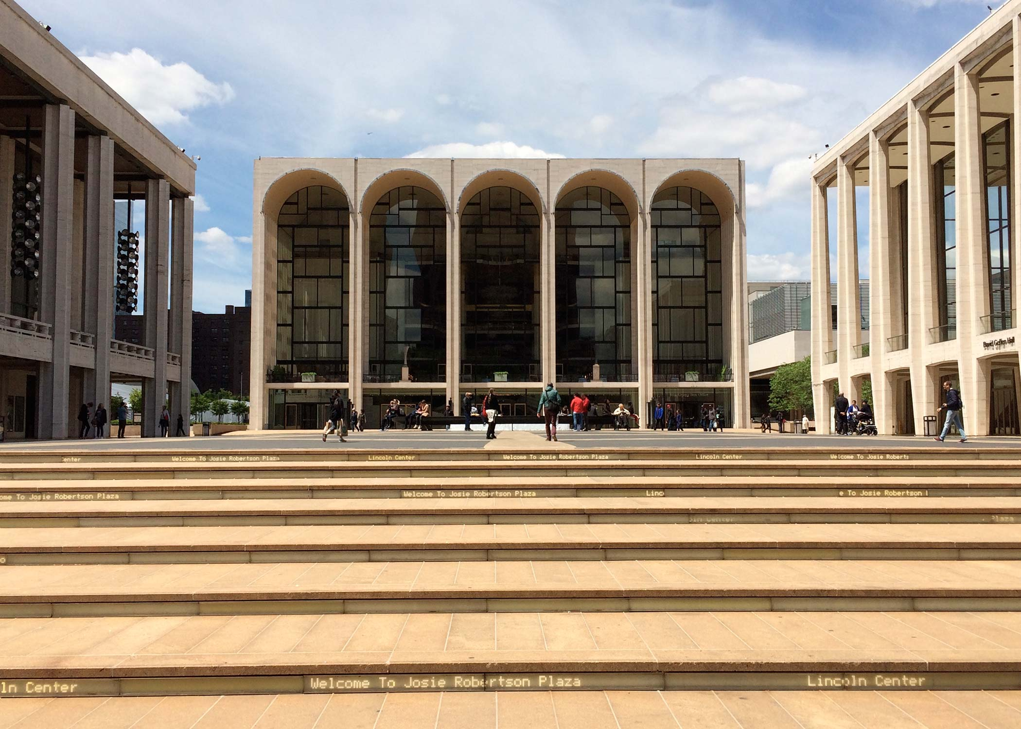 Exterior of Lincoln Center