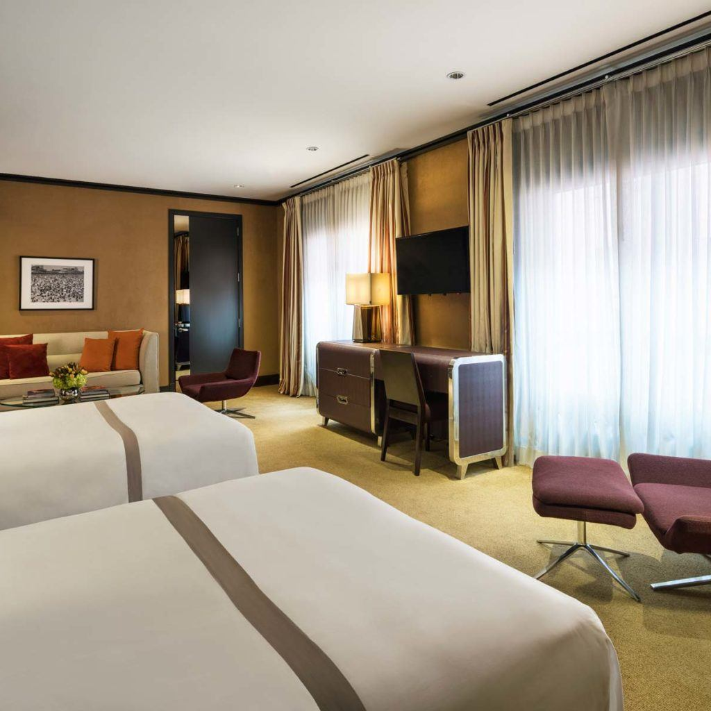 Picture of: Deluxe With Two Double Beds Luxury Hotel Rooms The Chatwal