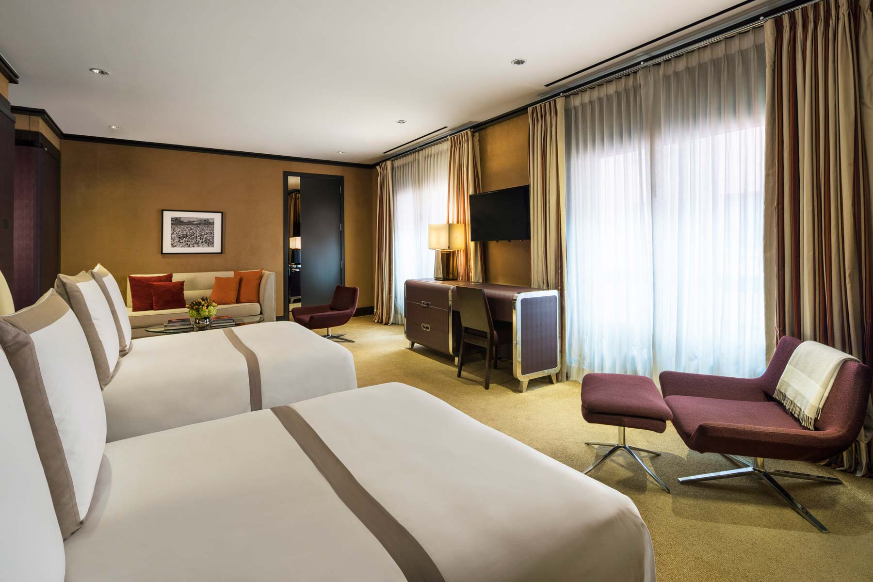 Deluxe with two double beds luxury hotel rooms the chatwal - Hotel suites new york city 2 bedrooms ...