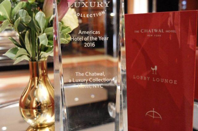 The Luxury Collection Americas Hotel of the Year 2016 award